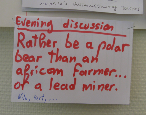 Polar bears, lead miners, African farmers