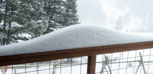 Normally distributed snow
