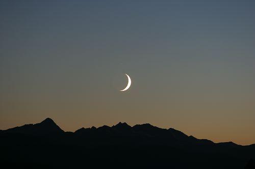 Moon & Venus over the Spanish Peaks